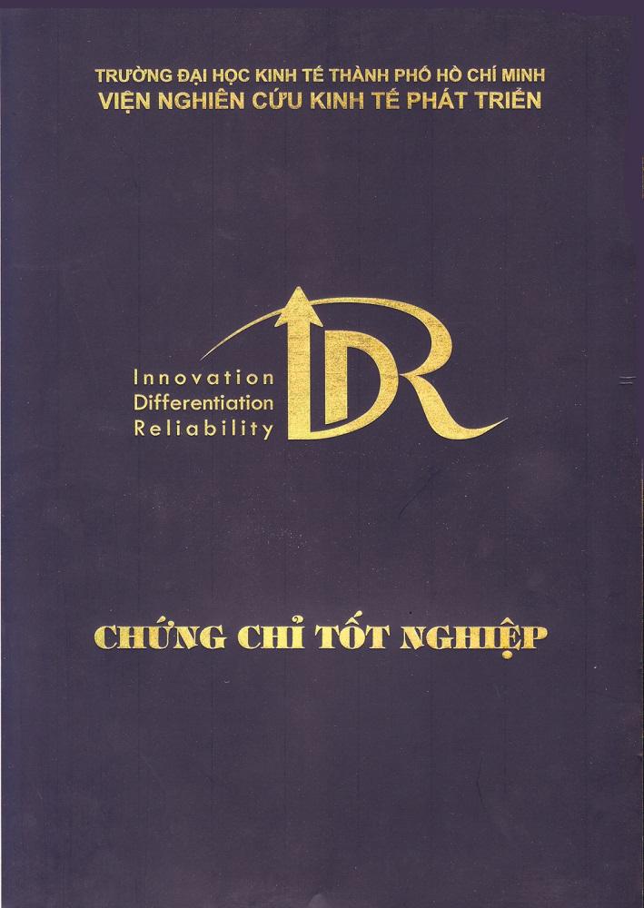 Chứng chỉ Viện IDR - Trường ĐH Kinh Tế